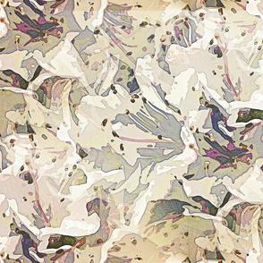 Pale brulé rodondendron