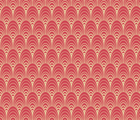 ovals_carmine fabric by einekleinedesignstudio on Spoonflower - custom fabric