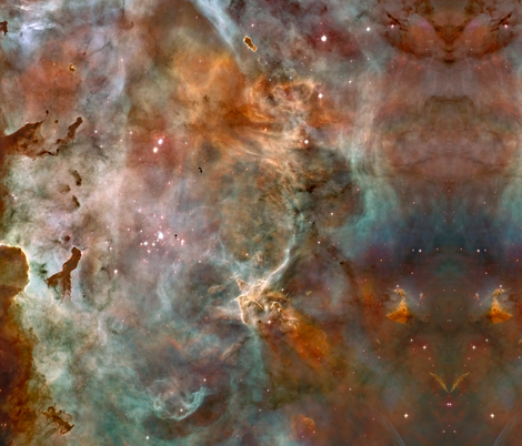 Astronomy Full cloth repeat of Nebula Phots fabric by zephyrus_books on Spoonflower - custom fabric