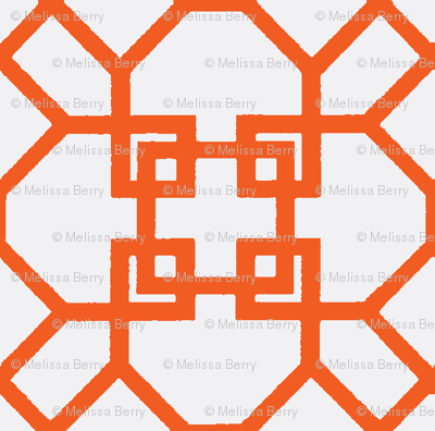 Lattice- Orange