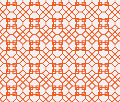 Lattice- Orange fabric by melberry on Spoonflower - custom fabric