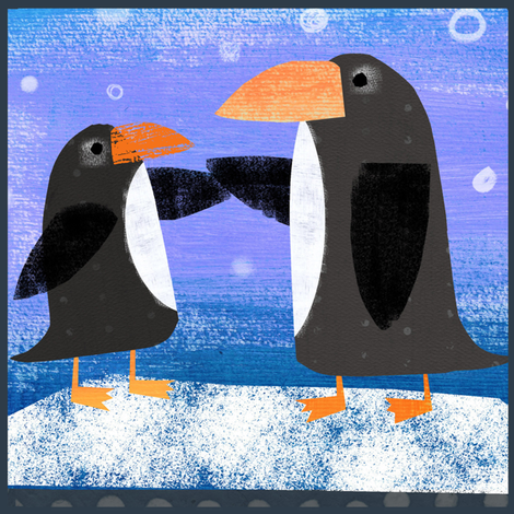 Penguin Fabric Panel