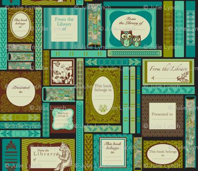 Woodlands book labels