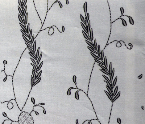 Regency Embroidered Blackwork