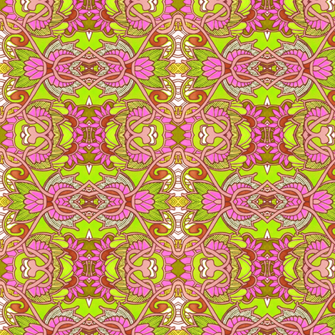 Chartrouse on the Loose (with flamingo pink) fabric by edsel2084 on Spoonflower - custom fabric