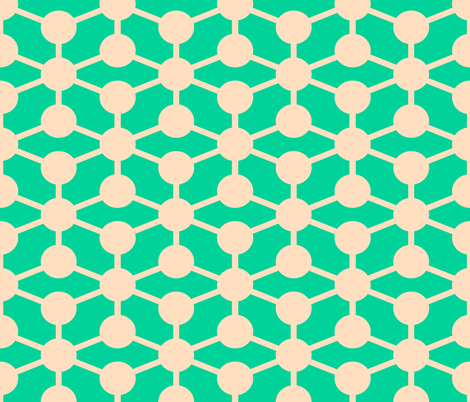 simple molecule in retro green fabric by jenr8 on Spoonflower - custom fabric