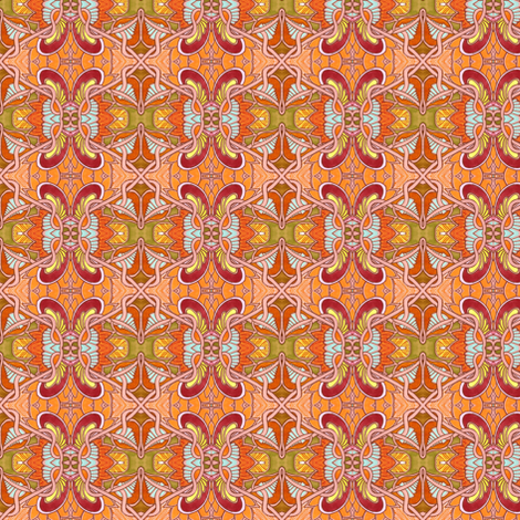 Orange Spirit Interlocking Hexagons fabric by edsel2084 on Spoonflower - custom fabric