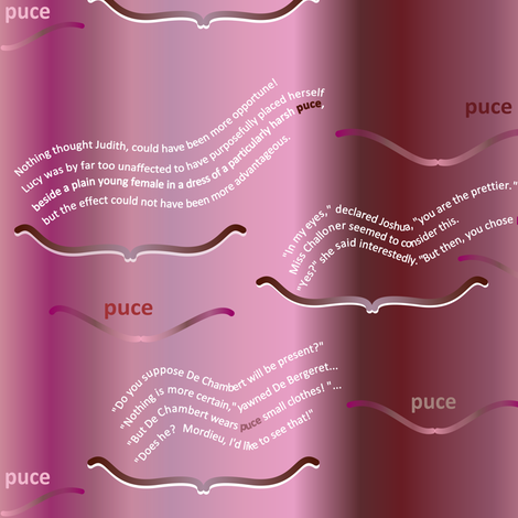 Georgette Heyer hated puce (readable text) fabric by su_g on Spoonflower - custom fabric