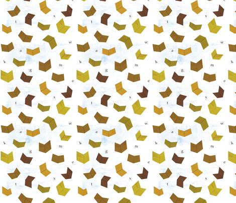 Books in Flight fabric by jenimp on Spoonflower - custom fabric