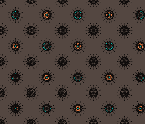 Retro Starbust 2 fabric by littletreedesigns on Spoonflower - custom fabric