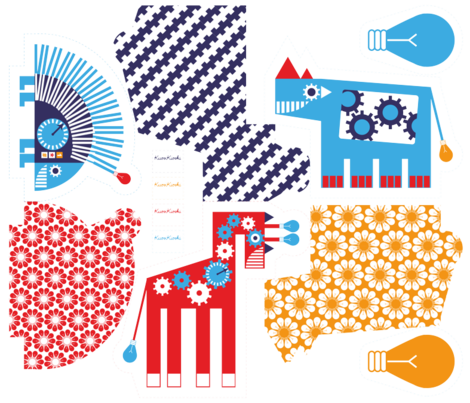 Robot Zoo Pillows_02