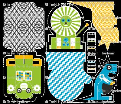 Robot Zoo Pillows_04