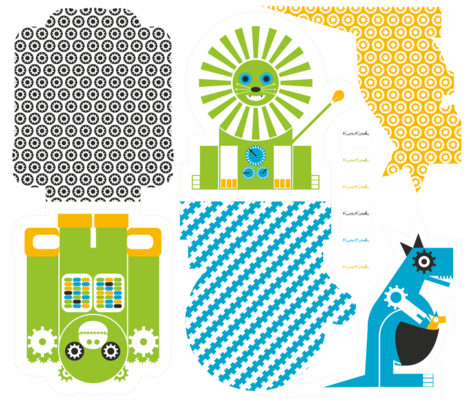 Robot Zoo Pillows_04