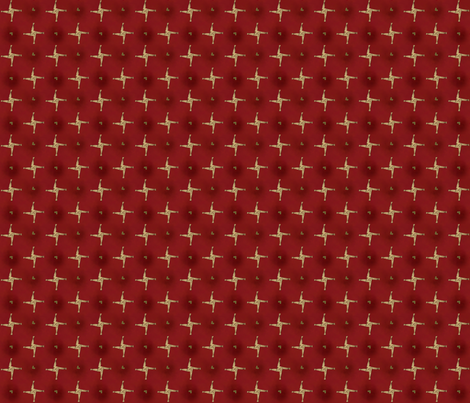 St Brigid's Cross on red  fabric by cherryandcinnamon on Spoonflower - custom fabric
