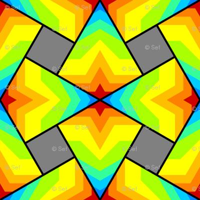 kite4sqXi - star rainbow - testing