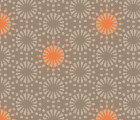 Retro Starburst 7 fabric by littletreedesigns on Spoonflower - custom fabric