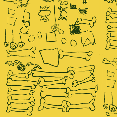 Buried Treasure by 5-Year-Old Carmen fabric by boris_thumbkin on Spoonflower - custom fabric