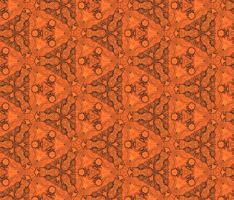 cage-tangerine fabric by wren_leyland on Spoonflower - custom fabric