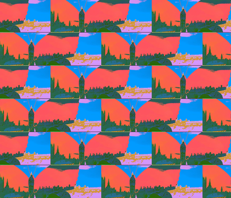 London through the eyes of a butterfly by evandecraats, 5 April, 2012 fabric by _vandecraats on Spoonflower - custom fabric