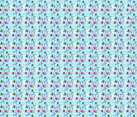 couture amour de couture bleu S fabric by nadja_petremand on Spoonflower - custom fabric