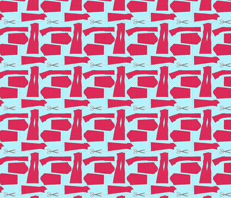 couture oh patron couture rouge M fabric by nadja_petremand on Spoonflower - custom fabric