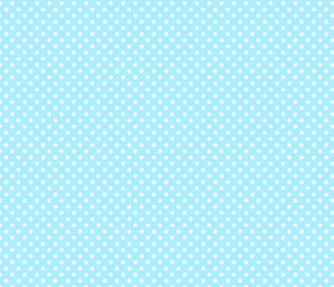 pois blanc fond ciel fabric by nadja_petremand on Spoonflower - custom fabric