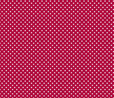 pois blanc fond rouge fabric by nadja_petremand on Spoonflower - custom fabric