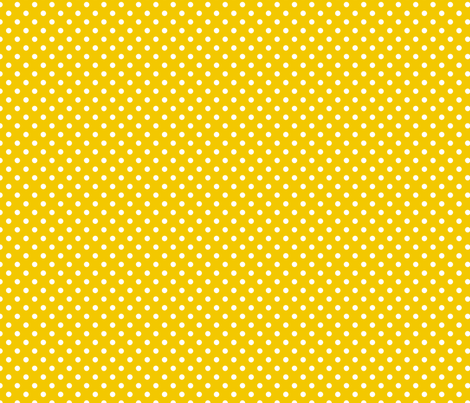 pois blanc fond jaune fabric by nadja_petremand on Spoonflower - custom fabric
