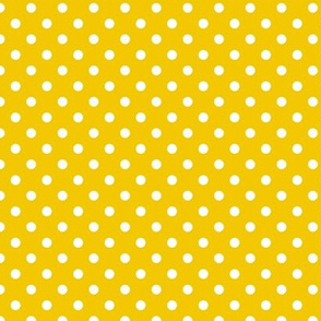 pois blanc fond jaune