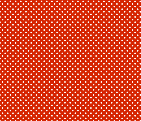 pois blanc fond orange foncé fabric by nadja_petremand on Spoonflower - custom fabric