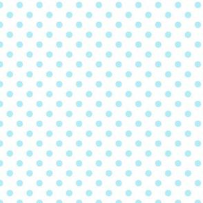 pois bleu fond blanc