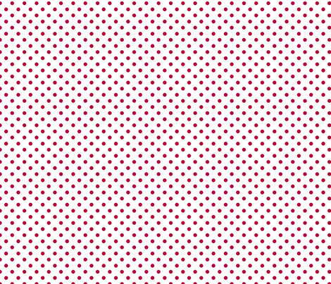 pois rouge fond blanc fabric by nadja_petremand on Spoonflower - custom fabric