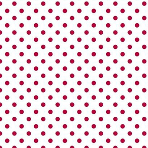 pois rouge fond blanc