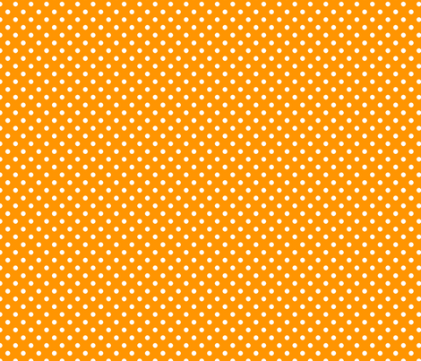 pois blanc fond mandarine fabric by nadja_petremand on Spoonflower - custom fabric