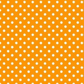 pois blanc fond mandarine