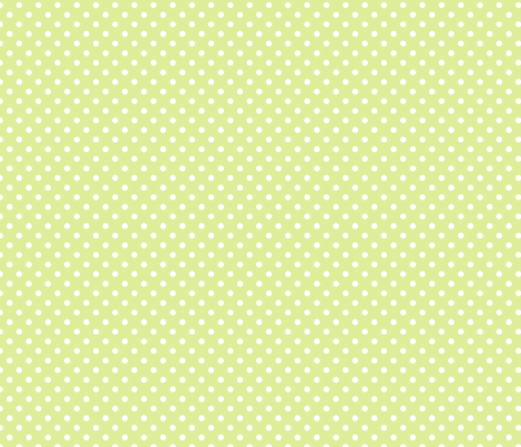 pois blanc fond vert pale fabric by nadja_petremand on Spoonflower - custom fabric