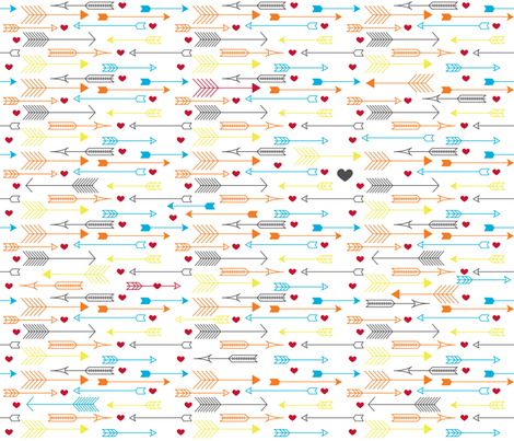 Hearts and Arrows fabric by kfay on Spoonflower - custom fabric