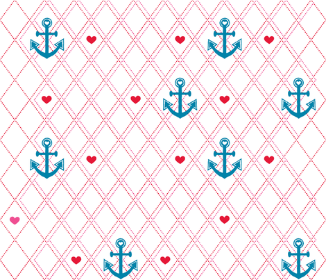 Anchors Away fabric by kfay on Spoonflower - custom fabric