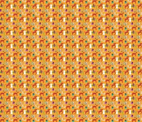 couture amour de couture orange S fabric by nadja_petremand on Spoonflower - custom fabric