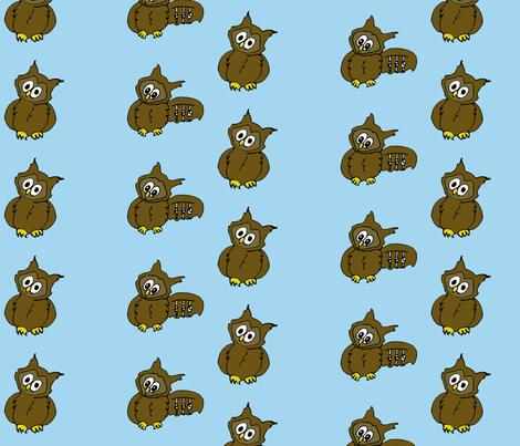 Owl Friends fabric by sharpestudiosdesigns on Spoonflower - custom fabric