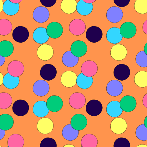 Big Dots (Orange) fabric by lavaguy on Spoonflower - custom fabric