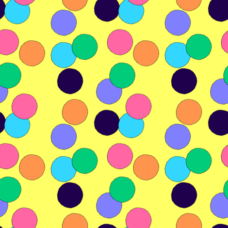 Big Dots (Yellow) fabric by lavaguy on Spoonflower - custom fabric
