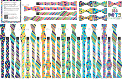 The Big Dots Collection: 7 Cut & Sew Bow-Ties