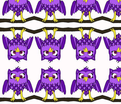 Purple Owl fabric by sharpestudiosdesigns on Spoonflower - custom fabric