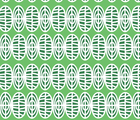 two in a row- green fabric by lola_designs on Spoonflower - custom fabric