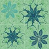 flower dance blue