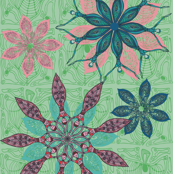 Flower dance green