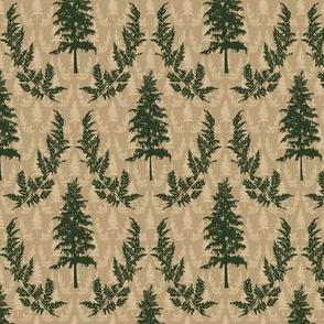 Pine Tree Damask