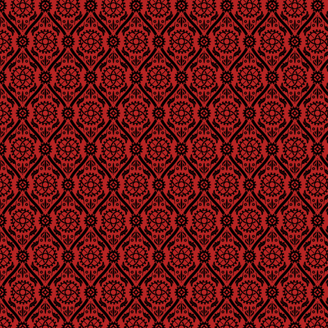 Fancy Gears - Red fabric by pi-ratical on Spoonflower - custom fabric