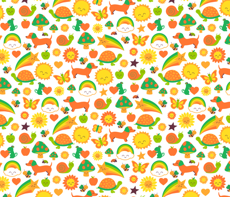 happy summer critters fabric by bubbledog on Spoonflower - custom fabric